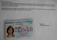 Fake ID and Letter from Joseph Candoloro