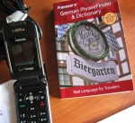 Andrizzle's cell phone with language book
